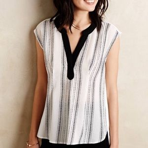 {Postmark} Anthropologie Egress Split Neck Top